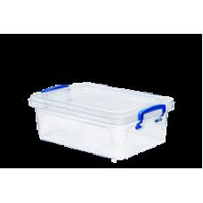 Контейнер пластиковый для хранения 1,2л. 21,5*14,5*7,2см./прозрачный/Fresh Box slim/Эльфпласт/1/60