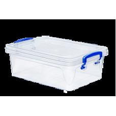 Контейнер пластиковый для хранения 6л. 3,5*23,5*12см./прозрачный/Fresh Box slim/Эльфпласт/1/24