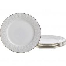 Набор тарелок фарфор из 6 шт d19.5см /Вивьен//Арти-М