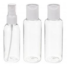 Набор бутылочек 3шт (2шт - 100мл, 1шт - 80мл), пластик, МС-02 /ГЦ