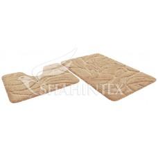 Набор ковриков 60*100+60*50см/PREMIUM/бисквитный 7/P003/SHAHINTEX/1/5