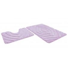 Набор ковриков 60*100+60*50см/PREMIUM/розовый 64/P004/SHAHINTEX/1/5