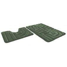 Набор ковриков 60*100+60*50см/PREMIUM/зеленый 52/P002/SHAHINTEX/1/5
