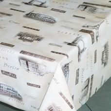 Клеенка ПВХ на нетканой основе Sale&Pepe 140см*20м 382/5 Столицы /ИТАЛИЯ/GIMY