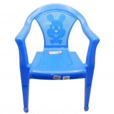 Стул детский пластиковый 34*36*49,5см./темно-голубой/Малыш/Росспласт/б/уп.