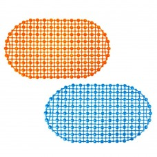 Коврик в ванну противоскользящий ПВХ 67*36см/4 цвета/эконом/Симпл/ /ГЦ