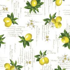 Клеенка ПВХ на нетканой основе Futura 140см*20м Лимоны/404.1 /ИТАЛИЯ/GIMY
