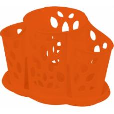 Сушилка для столовых приборов 3 секции/корица/Камелия/Пластик Репаблик/1/16