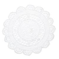 Салфетка полиэстер, d35см, белая/МИН12 /ГЦ