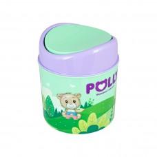 Контейнер для мусора 1,0л /зеленый/POLLY/Полимербыт