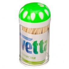 Зубочистки бамбук 100шт/пласт. упак./VETTA/МИН12 /ГЦ
