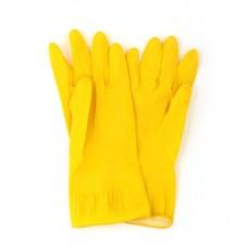 Перчатки резиновые желтые XL/VETTA/1/МИН12/240 /ГЦ