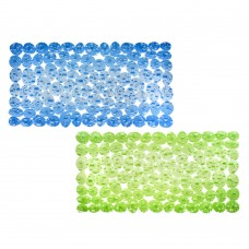 Коврик в ванну противоскользящий, ПВХ, 70x34см, Камни синий, 2 дизайна/VETTA/ГЦ
