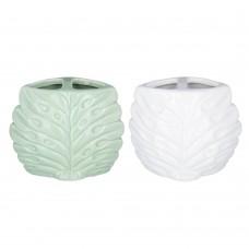Стакан с разделителем для зубных щеток и пасты, Перо павлина, керамика/2 цвета/VETTA/ГЦ