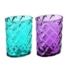 Стакан для ванной комнаты, Ромбо, пластик, 8,3х5,7х11см, 2 цвета/VETTA/ГЦ