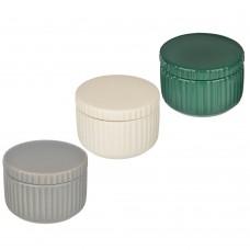 Контейнер для ватных дисков/палочек Вертикаль, керамика, 3 цвета /VETTA /ГЦ
