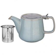Чайник с металлическим ситом и металлической крышкой 500мл./серо-голубой/Luster/Арти-М/1/24