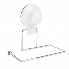 Держатель для туалетной бумаги/металл/хром+белый/VETTA/вакуумное крепление/ГЦ