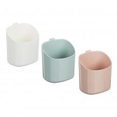 Стакан для ванной комнаты, самоклеящийся, пластик, 11,5х8х 9,5см, 3 цвета/VETTA/ГЦ