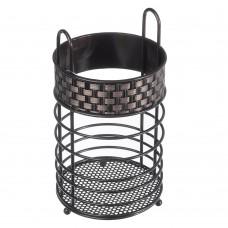Подставка для столовых приборов Плетёнка/металл 20х10,5см/ГЦ