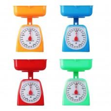 Весы кухонные механ. с пластиковой чашей 800мл/макс нагр до 5кг/4 цвета/рат. СХ-129/ГЦ