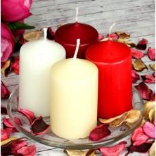 Свеча столбик 6х15 см, 4 цвета/LADECOR/ГЦ