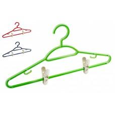 Вешалки-плечики для брюк и юбок 42*40*21,5см. размер 48-50/микс: зеленый,синий,красный/Мартика/1/35
