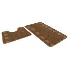 Набор ковриков 50*80+50*40/АКТИВ/002 кофе с молоком 55/icarpet/SHАHINTEX/1/15