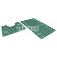 Набор ковриков 50*80+50*40/АКТИВ/002/зеленый 52/icarpet/SHАHINTEX/1/15