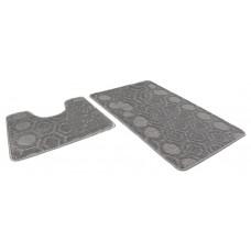 Набор ковриков 50*80+50*40/АКТИВ/002 пепельный 74/icarpet/SHАHINTEX/1/15