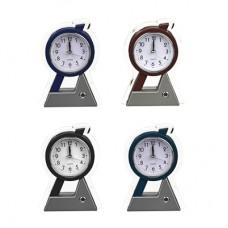 Будильник электронный, 15,3х11х3,7см, пластик, 1хАА, 4 цвета, арт.0012/CHRONO/ГЦ