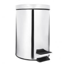 Ведро с педалью 5л/для ванной комнаты/хром/металл/ГЦ