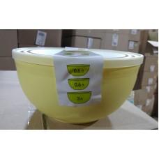 Набор мисок с крышками (0,6л-2шт,3л-1шт)/Line/Полимербыт