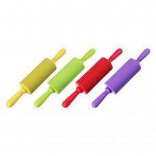 Скалка мини  силикон пластик 23*4см 4цвета /ГЦ