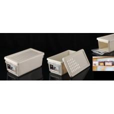 Ящик для хранения с боковой дверцей 12л/слоновая кость/BranQ/ПЛАСТИК РЕПАБЛИК/