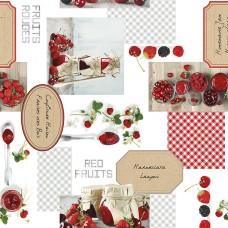 Клеенка ПВХ на нетканой основе Photoprint 140см*20м. 734 Фрукты-ягоды /ИТАЛИЯ/GIMY
