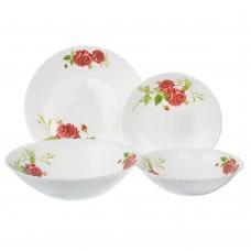 Набор столовой посуды 13 пр,4персоны опаловое стекло/Инесса/MILLIMI/ /ГЦ