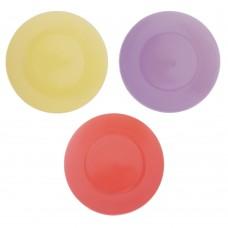 Тарелка десертная Глянец 20х2,3см/керамика/3 цвета/ГЦ