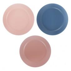 Тарелка десертная 22см, керамика, 3 цвета/Ирина/ГЦ