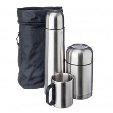 Набор походный термос1л Буллет+термос суповой 750мл+кружка 300 мл в сумке VETTA /ГЦ