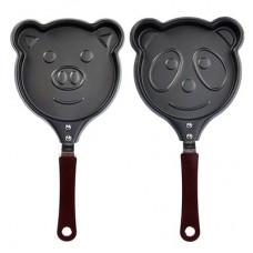 Мини-сковорода а/п угл сталь, d13,5см, Забавные животные, 2 дизайна /ГЦ
