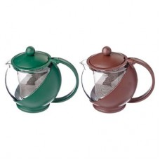 Чайник заварн. стекло-пластик  500мл/ситечко из нерж. стали/4 цвета /ГЦ