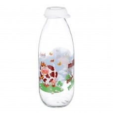Бутылка для молока 1000 мл, стекло, HEREVIN Милки /ГЦ