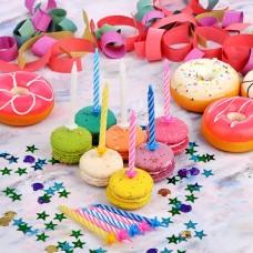 Свечи для торта Капитан весельчак 12 шт/4 цвета/ГЦ