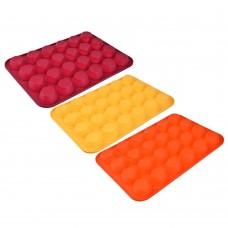 Форма силиконовая 24 ячейки для булочек /36x24x2,2см/ 3 цвета, HS-006C/VETTA/ГЦ