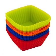Набор форм для выпечки силикон 16шт /7*3см/квадратный Кекс/HS-L10/VETTA /ГЦ