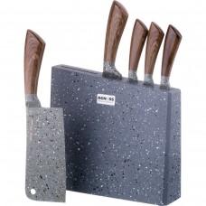 Набор ножей на деревянной подставке 6пр/Арти-М