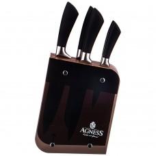 Набор ножей на подставке 6 предметов/Agness/Арти-М