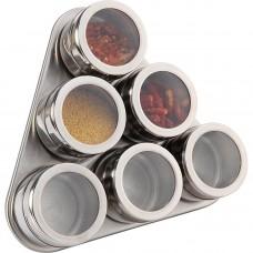 Набор для специй 7пр на магнитах в тч метал подставка 20*22*5см/Арти-М