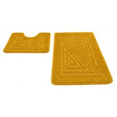 Набор ковриков 60*100+60*50см/PP/желтый 60/SHAHINTEX/1/15